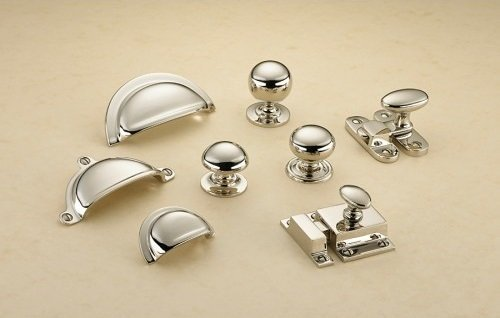 Chrome kitchen handles pulls catches knobs