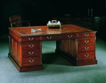 Chippendale-style partner desk