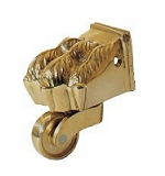 solid brass wheel screw socket box castors  for furniture restoration